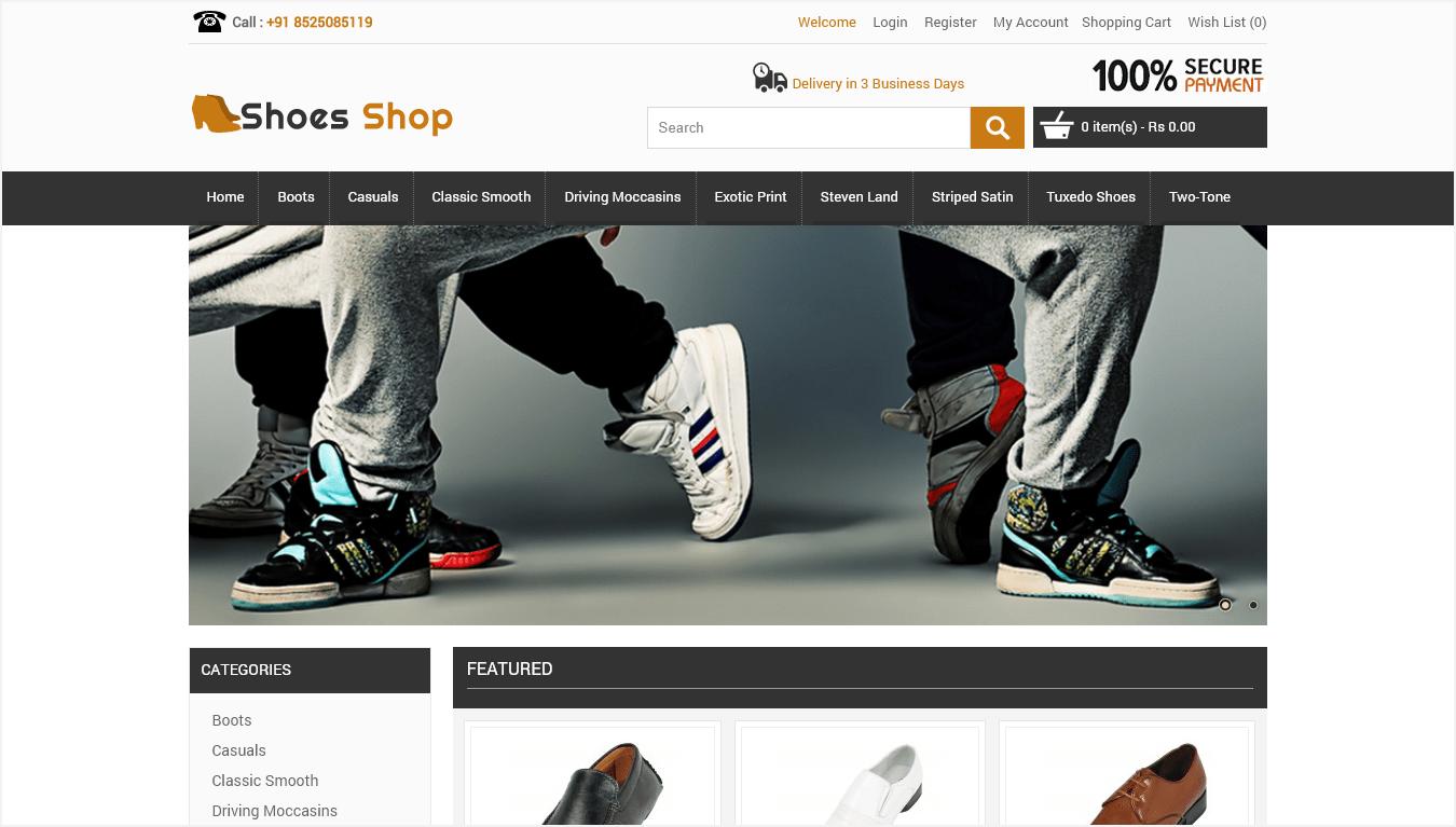 ecommerce sales shoe